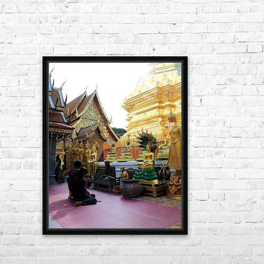 Praying at Doi Suthep HD Sublimation Metal print with Decorating Float Frame (BOX)