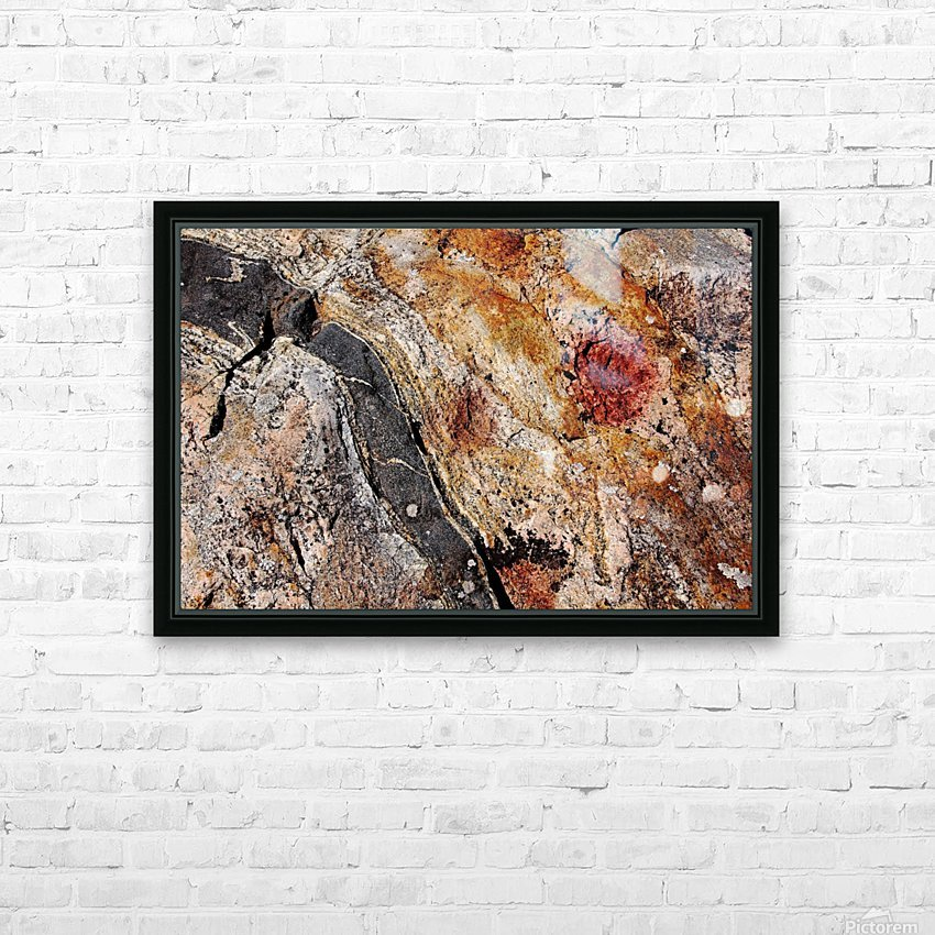 Colors Of Rock HD Sublimation Metal print with Decorating Float Frame (BOX)
