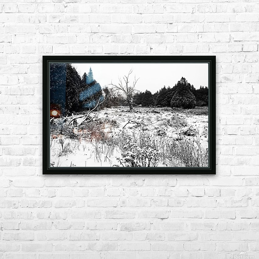 Quiet Winter Black And White HD Sublimation Metal print with Decorating Float Frame (BOX)