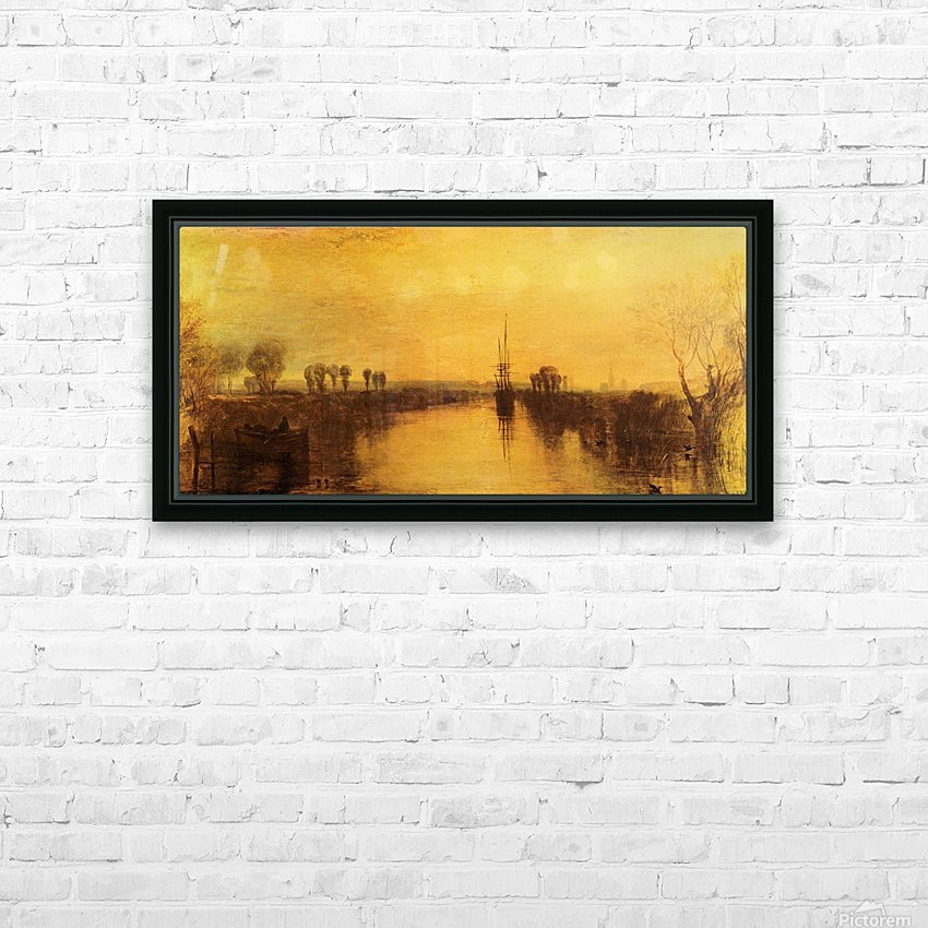 Chichester Canal by Joseph Mallord Turner HD Sublimation Metal print with Decorating Float Frame (BOX)
