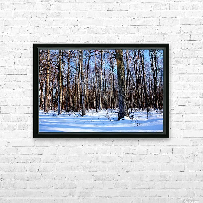 Snowy Woods HD Sublimation Metal print with Decorating Float Frame (BOX)