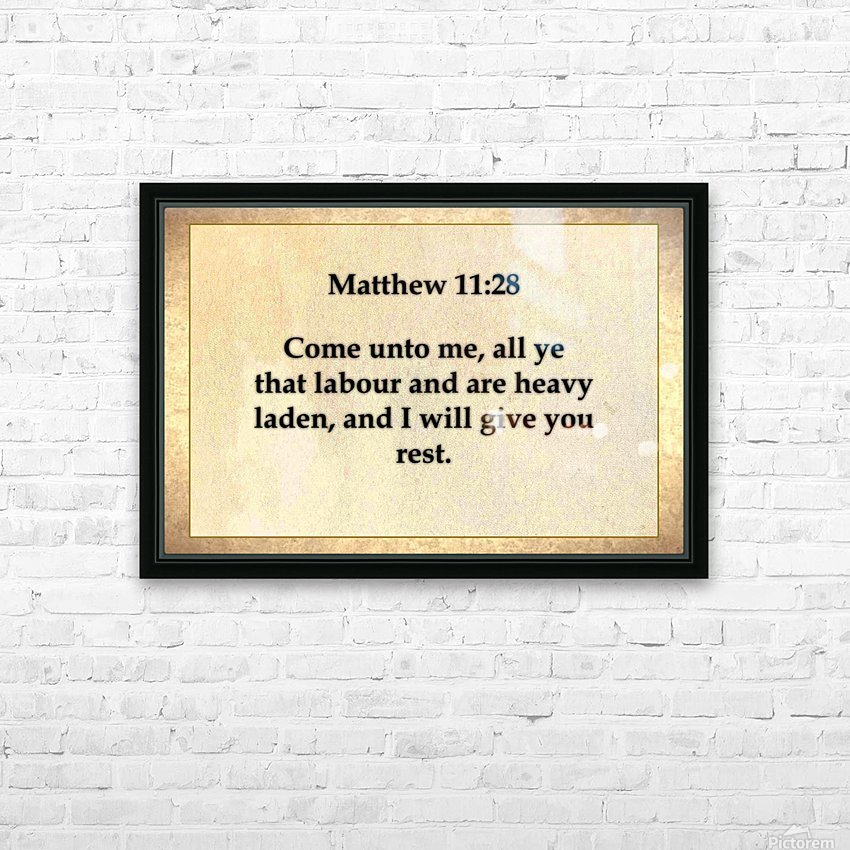 Matthew 11 28 HD Sublimation Metal print with Decorating Float Frame (BOX)
