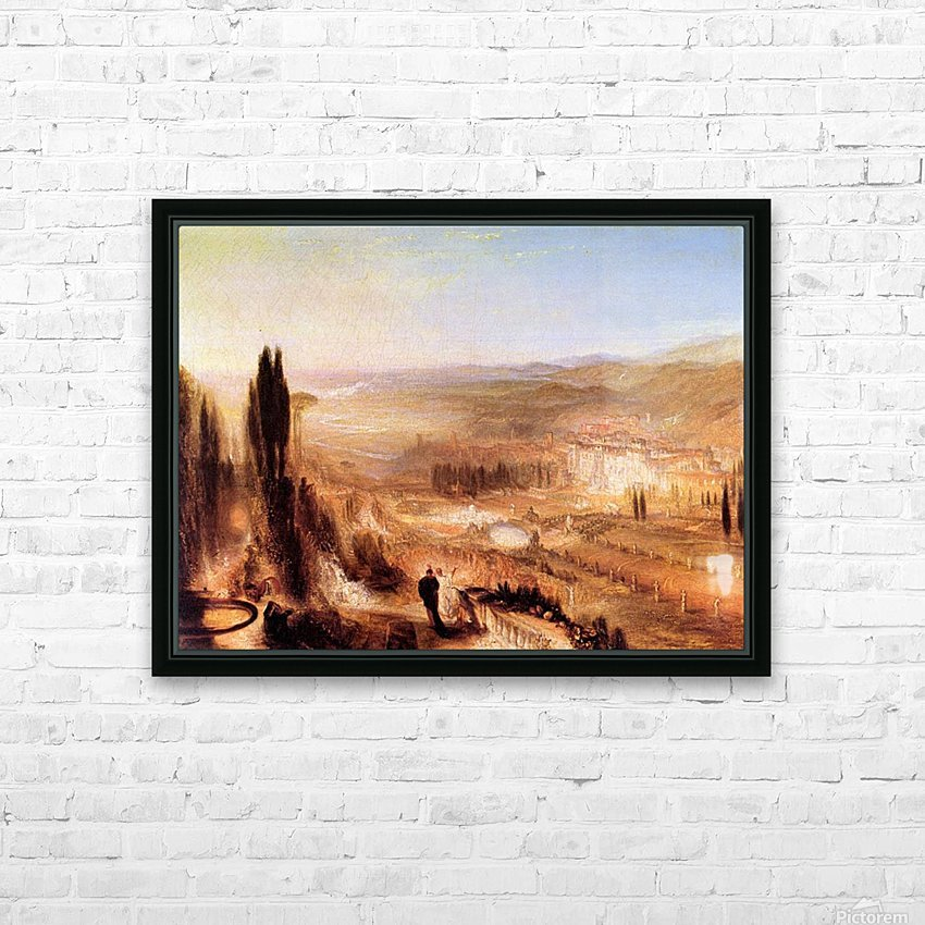 Cicero at his villa by Joseph Mallord Turner HD Sublimation Metal print with Decorating Float Frame (BOX)