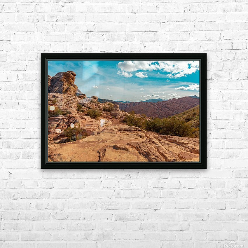 On Top Of The World HD Sublimation Metal print with Decorating Float Frame (BOX)