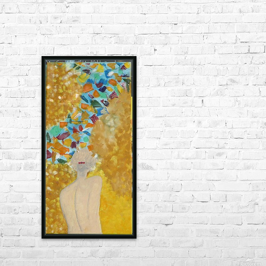 ahson qazi,figurative (2) HD Sublimation Metal print with Decorating Float Frame (BOX)