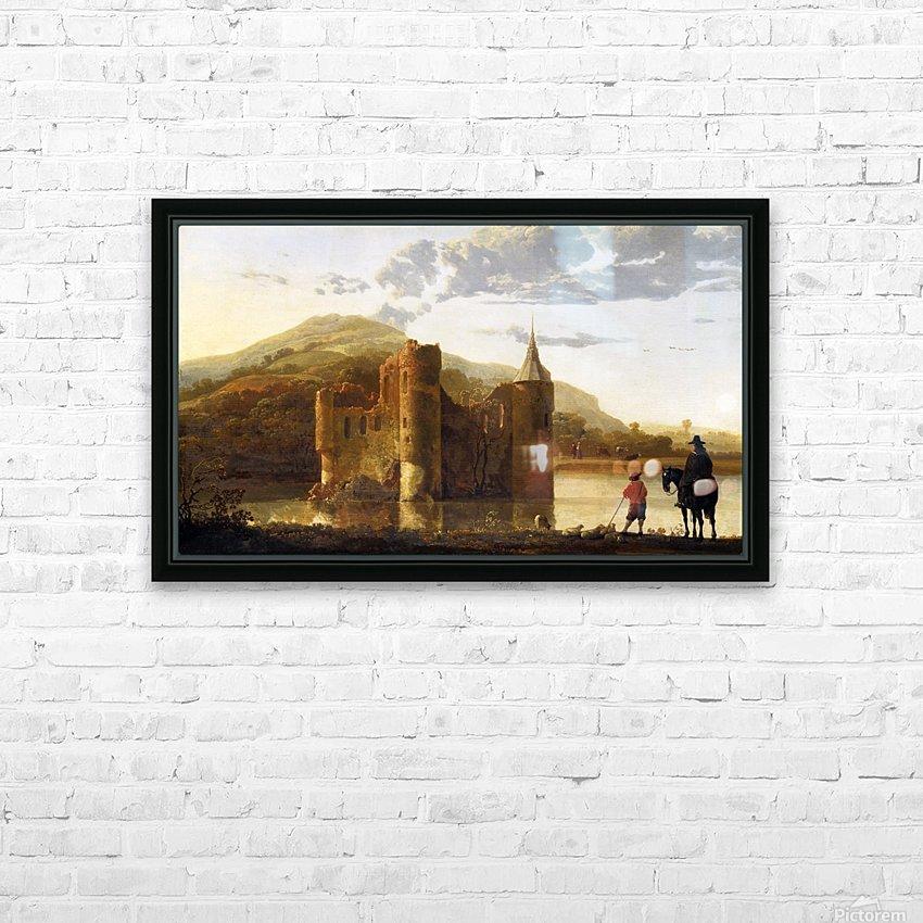 Ubbergen Castle HD Sublimation Metal print with Decorating Float Frame (BOX)