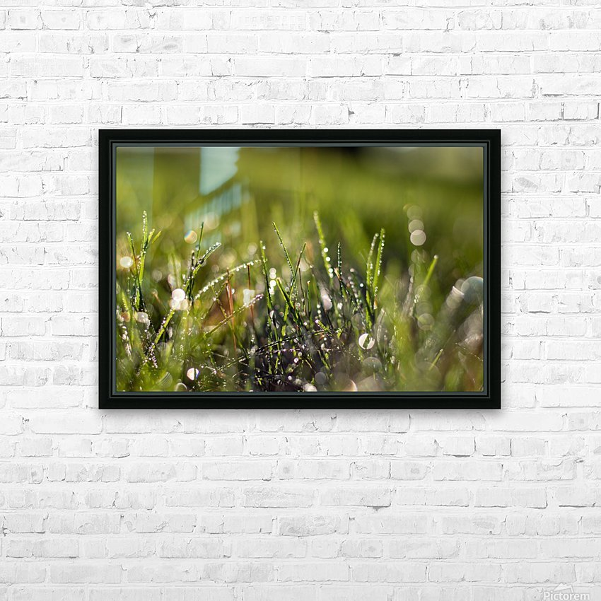 Dew Drops HD Sublimation Metal print with Decorating Float Frame (BOX)