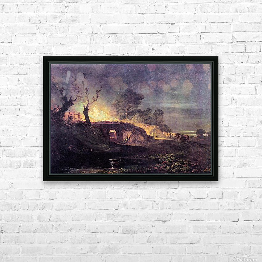 Coalbrookdale by Joseph Mallord Turner HD Sublimation Metal print with Decorating Float Frame (BOX)