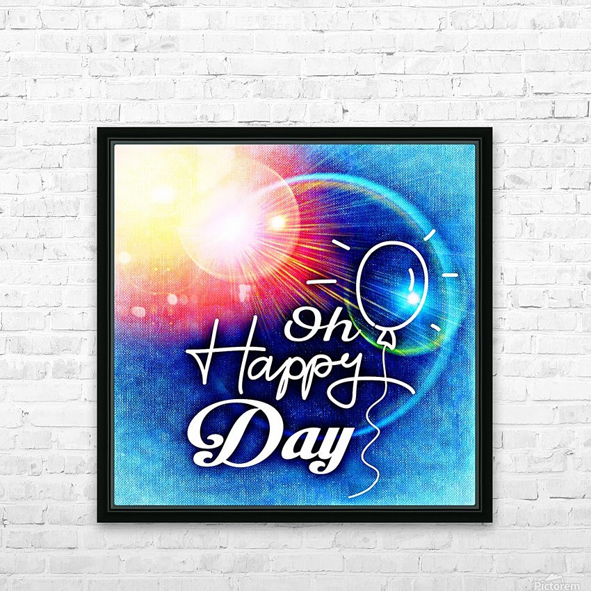 Happy Day_OSG HD Sublimation Metal print with Decorating Float Frame (BOX)
