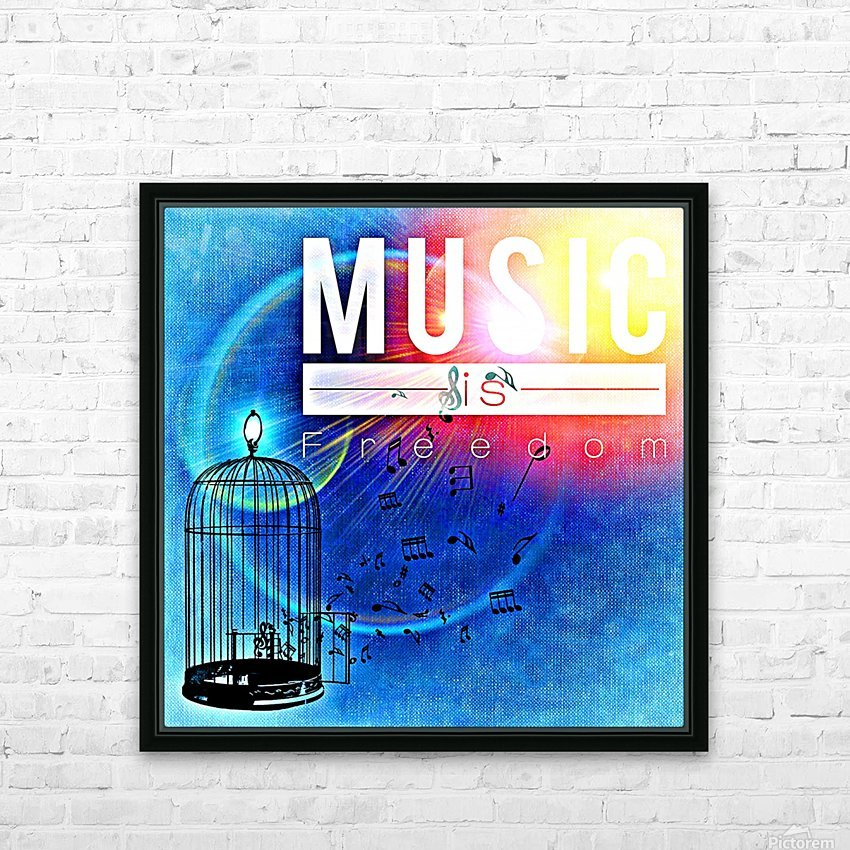 Music_OSG HD Sublimation Metal print with Decorating Float Frame (BOX)