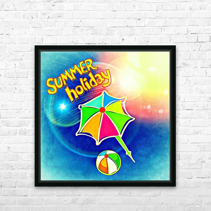 Summer_OSG_1533091144.37 HD Sublimation Metal print with Decorating Float Frame (BOX)