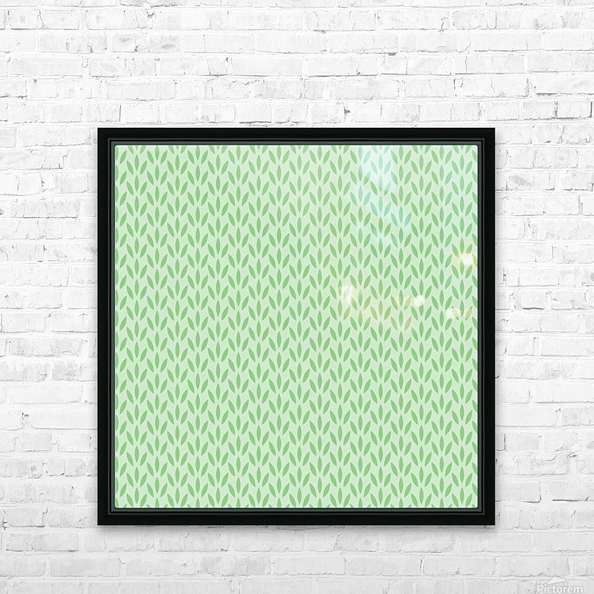 Green Flower Seamless Pattern Background HD Sublimation Metal print with Decorating Float Frame (BOX)