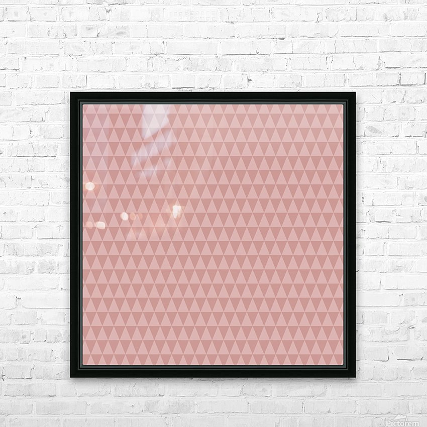 ORANGE Triangle Shape Seamless Pattern Background    HD Sublimation Metal print with Decorating Float Frame (BOX)