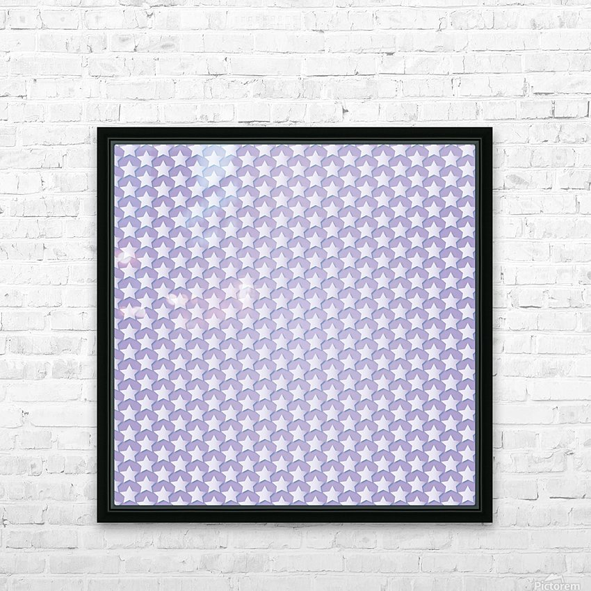 Purple Star Pattern HD Sublimation Metal print with Decorating Float Frame (BOX)
