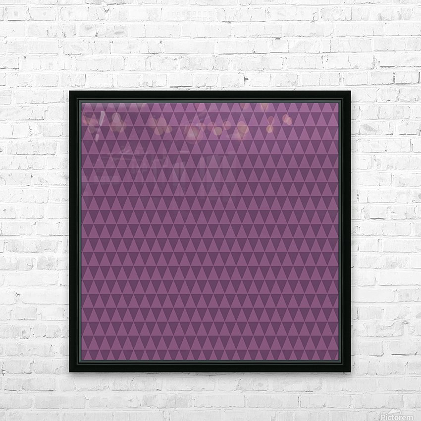 Triangle PURPLE Shape Seamless Pattern Background    HD Sublimation Metal print with Decorating Float Frame (BOX)
