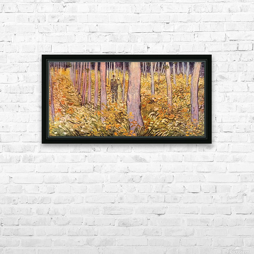 Couple walk in the woods by Van Gogh HD Sublimation Metal print with Decorating Float Frame (BOX)