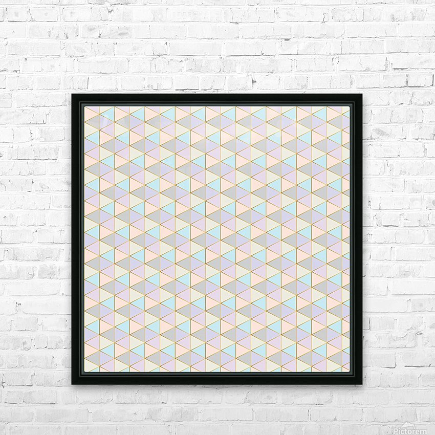 Hexagon Color Art Pattern HD Sublimation Metal print with Decorating Float Frame (BOX)