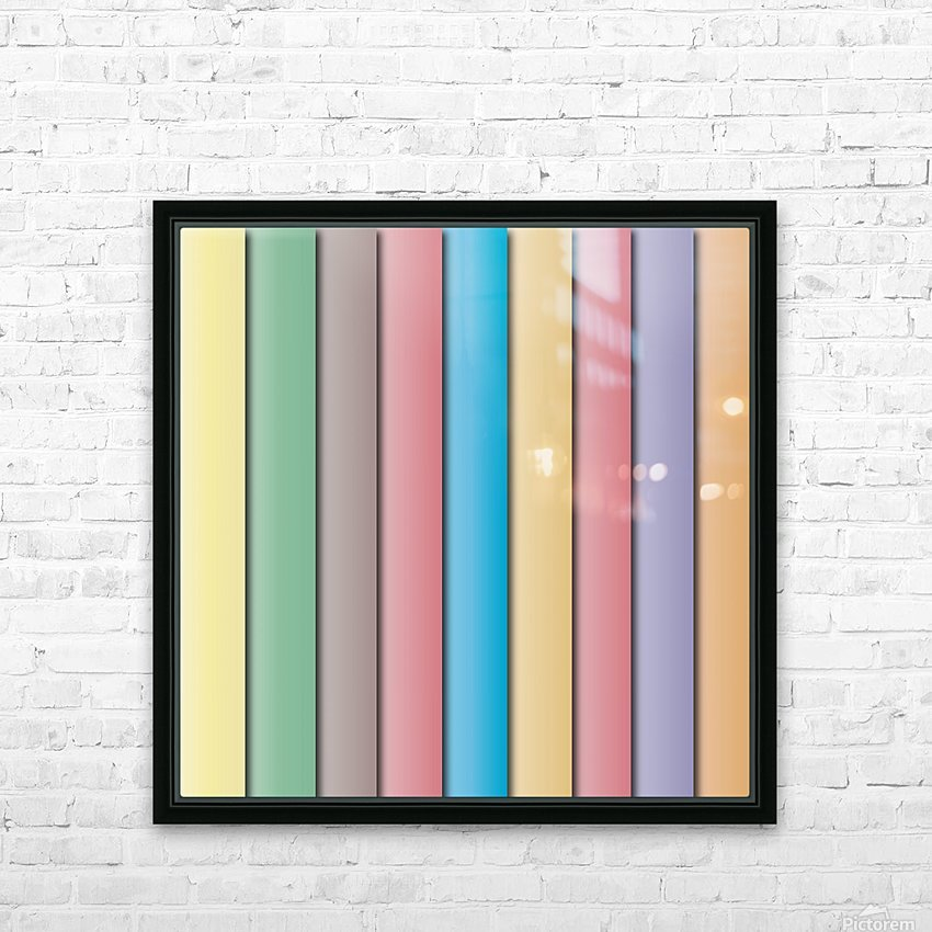 Colorful Pattern   HD Sublimation Metal print with Decorating Float Frame (BOX)