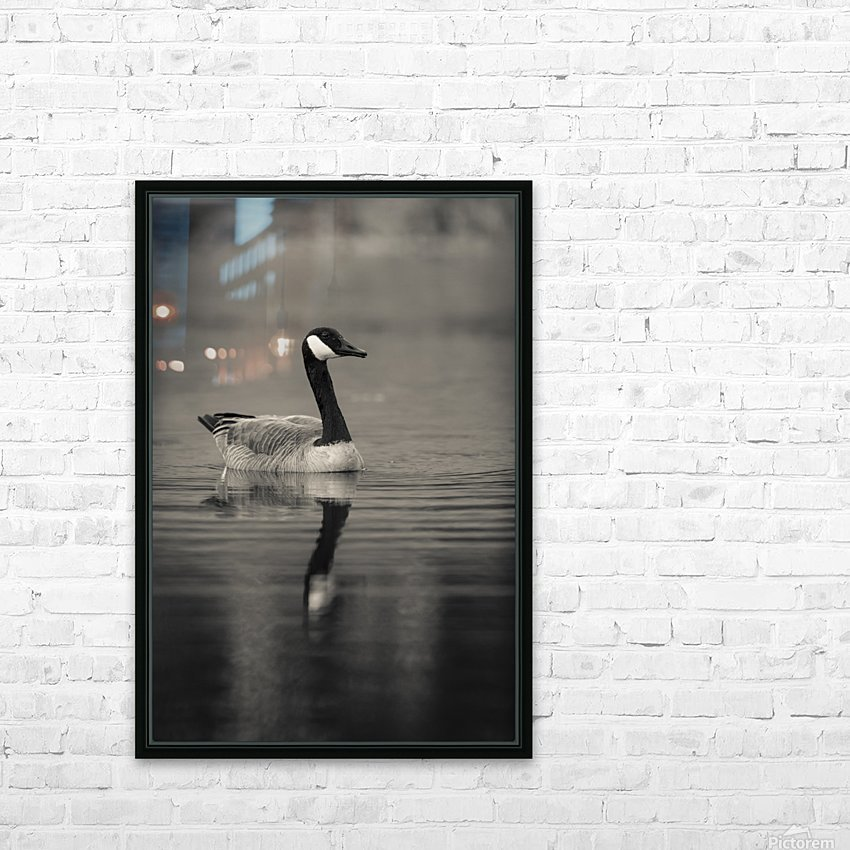 Canada Goose HD Sublimation Metal print with Decorating Float Frame (BOX)