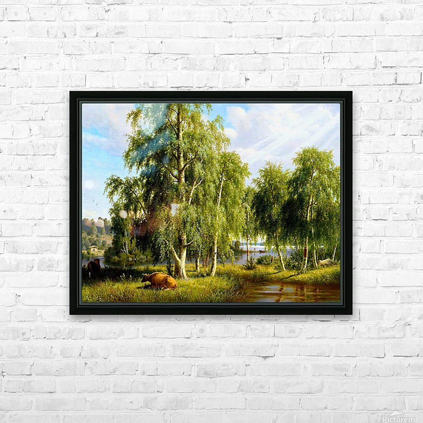 Beautiful Summer Day In The Farm_OSG HD Sublimation Metal print with Decorating Float Frame (BOX)