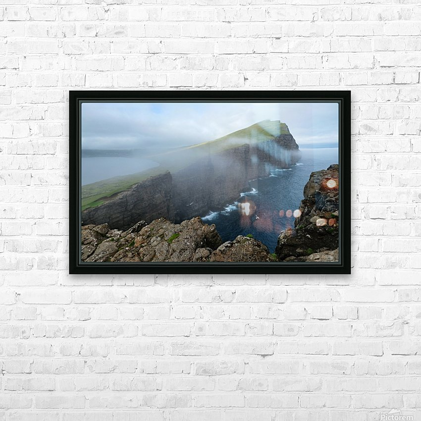 Faroe Cliffs HD Sublimation Metal print with Decorating Float Frame (BOX)