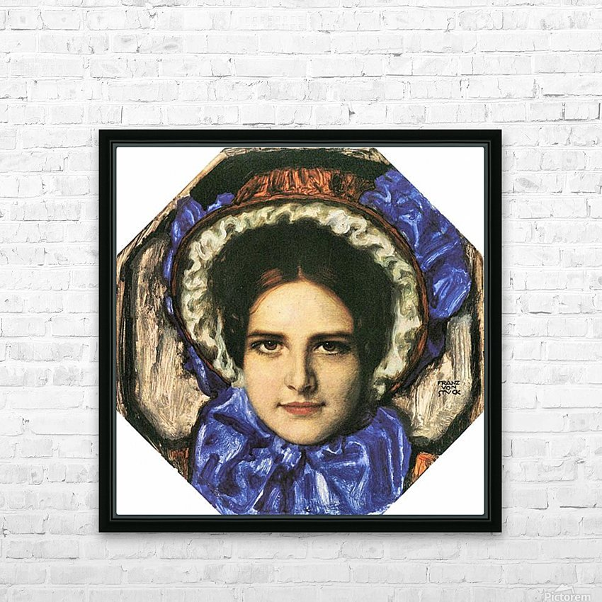 Daughter Mary by Franz von Stuck HD Sublimation Metal print with Decorating Float Frame (BOX)