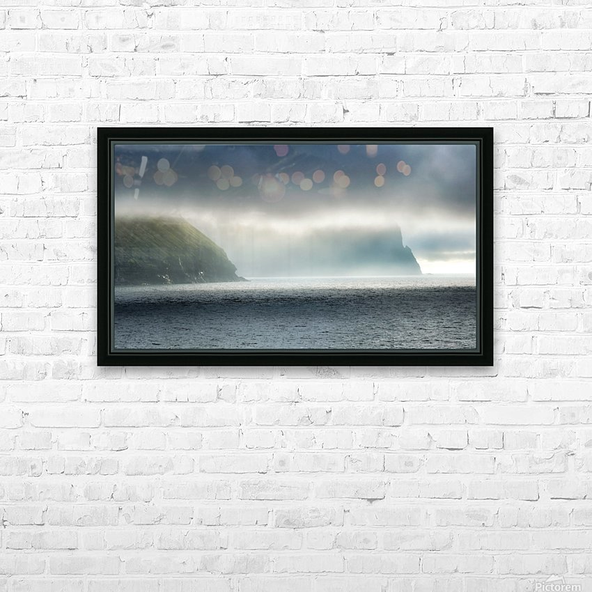 Sea meets sky HD Sublimation Metal print with Decorating Float Frame (BOX)