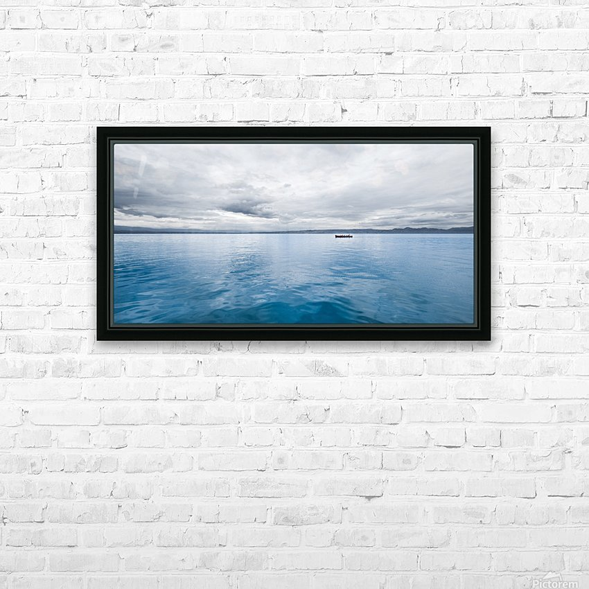 Lac Évian HD Sublimation Metal print with Decorating Float Frame (BOX)
