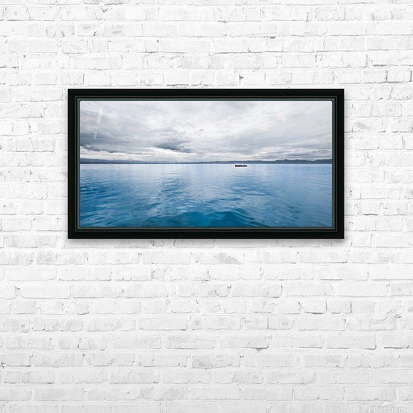 Lac Évian HD sublimation métal imprimé avec décoration flotteur cadre (boîte)