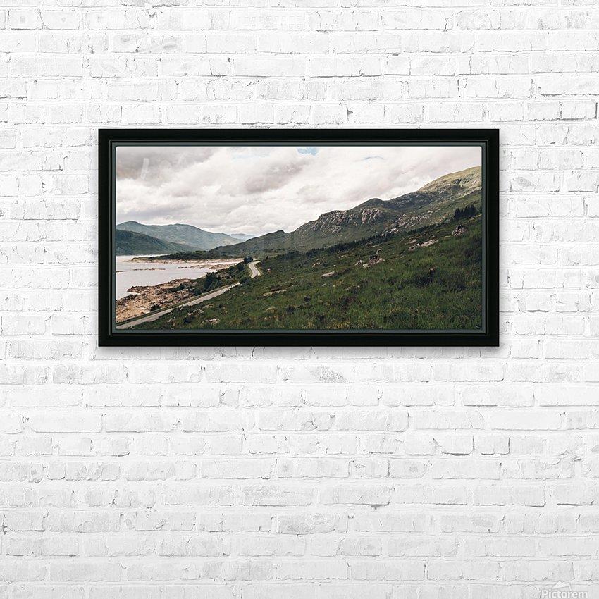 Rive de Loch Cluanie HD sublimation métal imprimé avec décoration flotteur cadre (boîte)