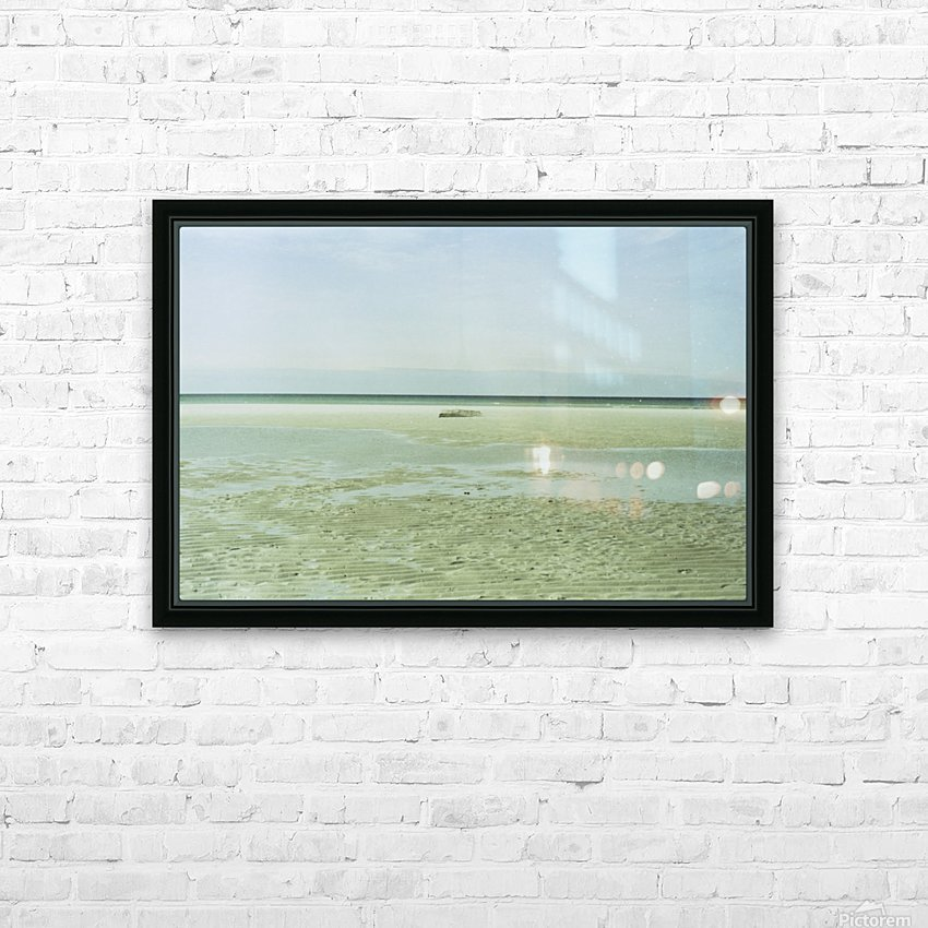 Mayflower Beach 1 HD Sublimation Metal print with Decorating Float Frame (BOX)
