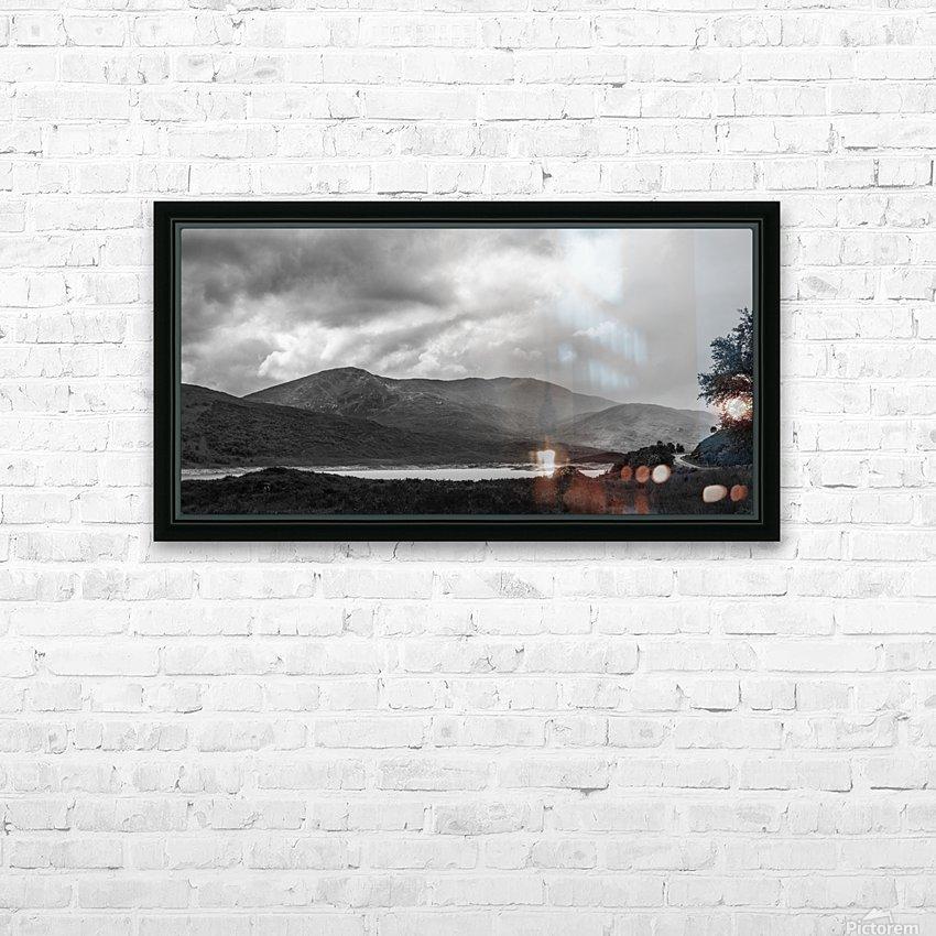 Scotish Highlands HD Sublimation Metal print with Decorating Float Frame (BOX)