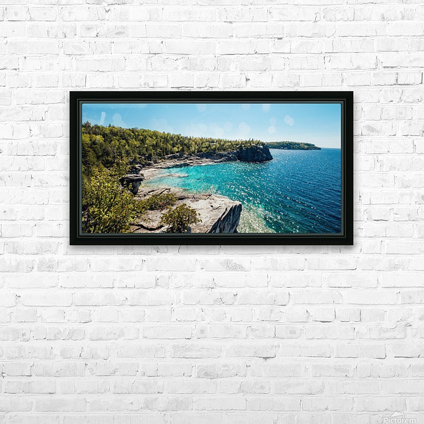 Bruce Peninsula HD Sublimation Metal print with Decorating Float Frame (BOX)