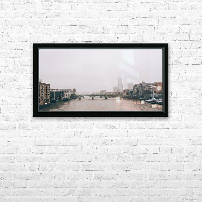 Millenium Bridge HD Sublimation Metal print with Decorating Float Frame (BOX)