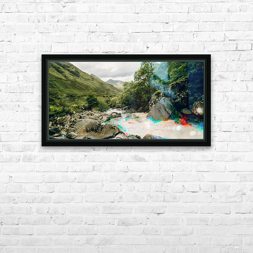 Glen Shiel River - Colorflow 2 HD Sublimation Metal print with Decorating Float Frame (BOX)