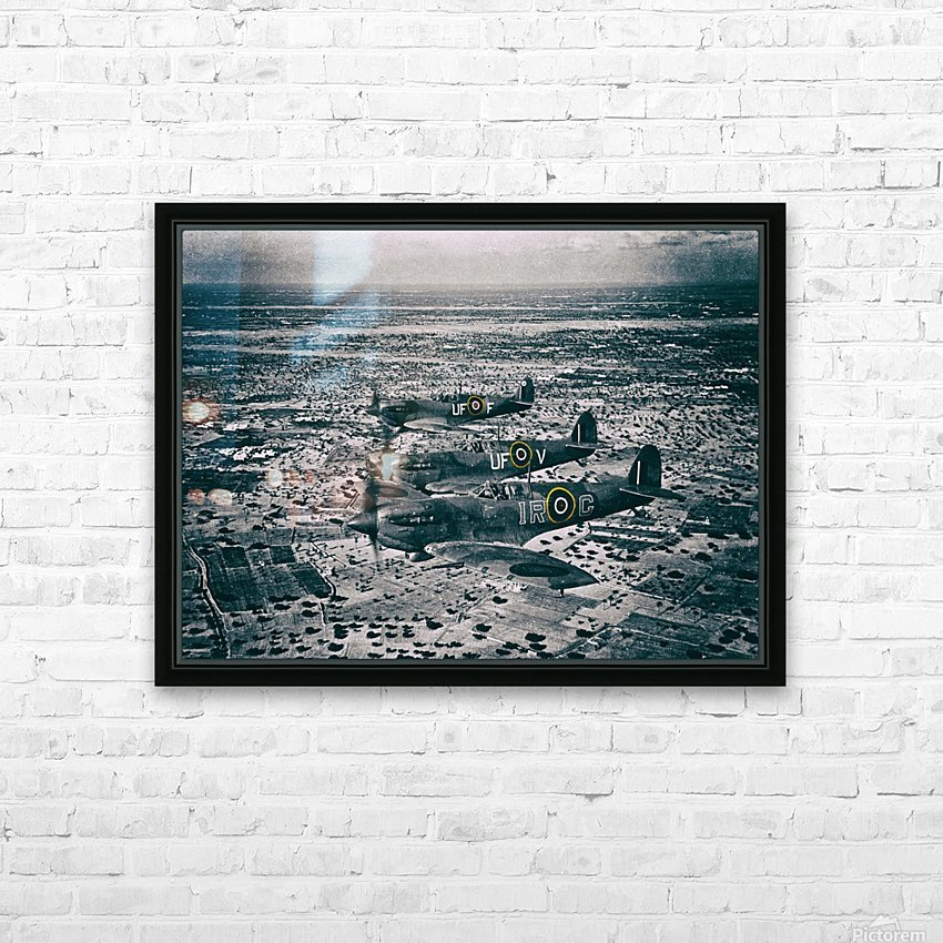 Formation Of Spitfires - 1943 HD Sublimation Metal print with Decorating Float Frame (BOX)