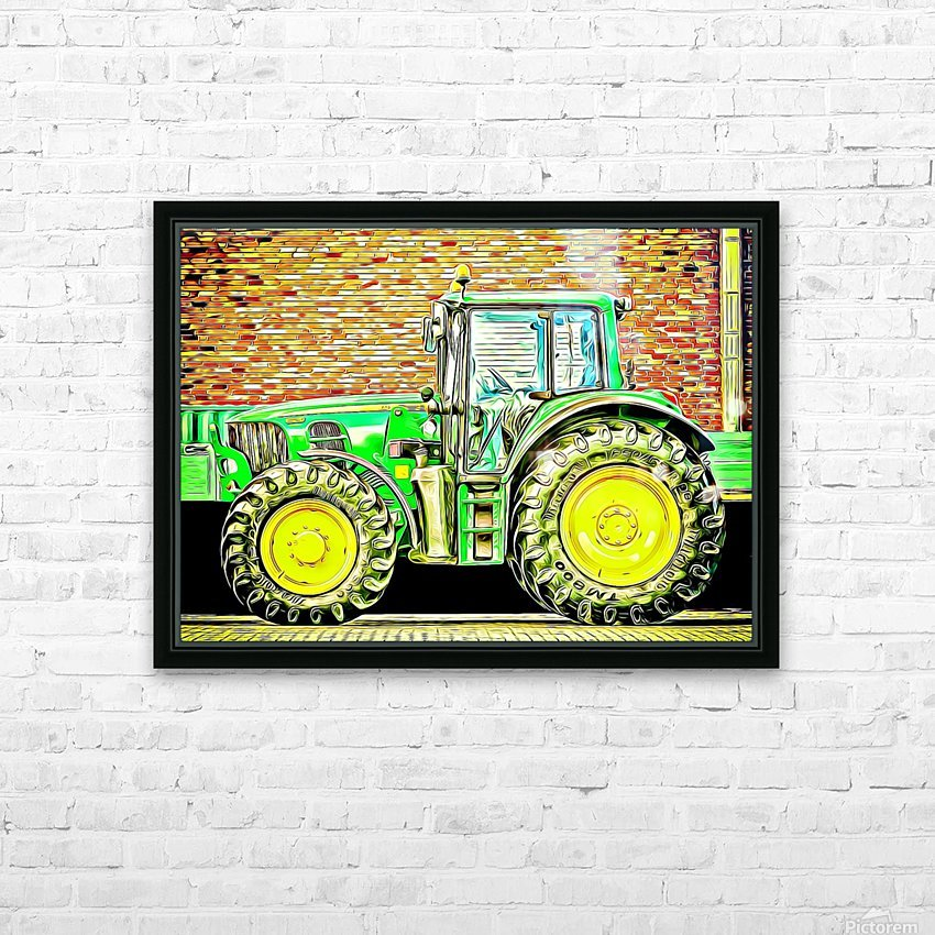 farming equipment HD Sublimation Metal print with Decorating Float Frame (BOX)