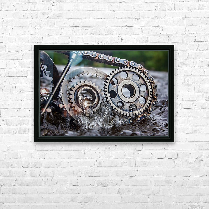 Flooded emotions HD Sublimation Metal print with Decorating Float Frame (BOX)