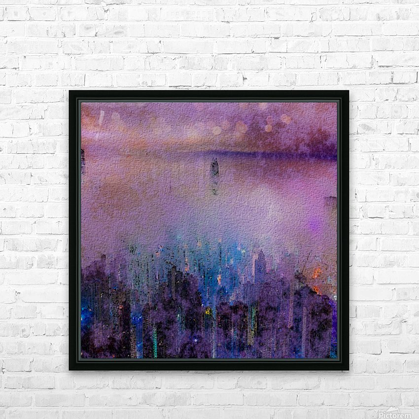 CITY SMOG HD Sublimation Metal print with Decorating Float Frame (BOX)