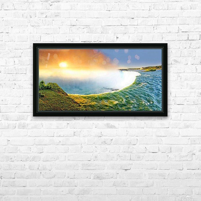Sunrise at Niagara Falls HD Sublimation Metal print with Decorating Float Frame (BOX)