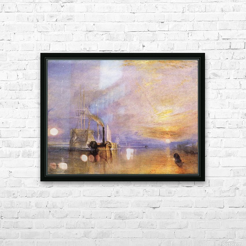 Deception by Joseph Mallord Turner HD Sublimation Metal print with Decorating Float Frame (BOX)