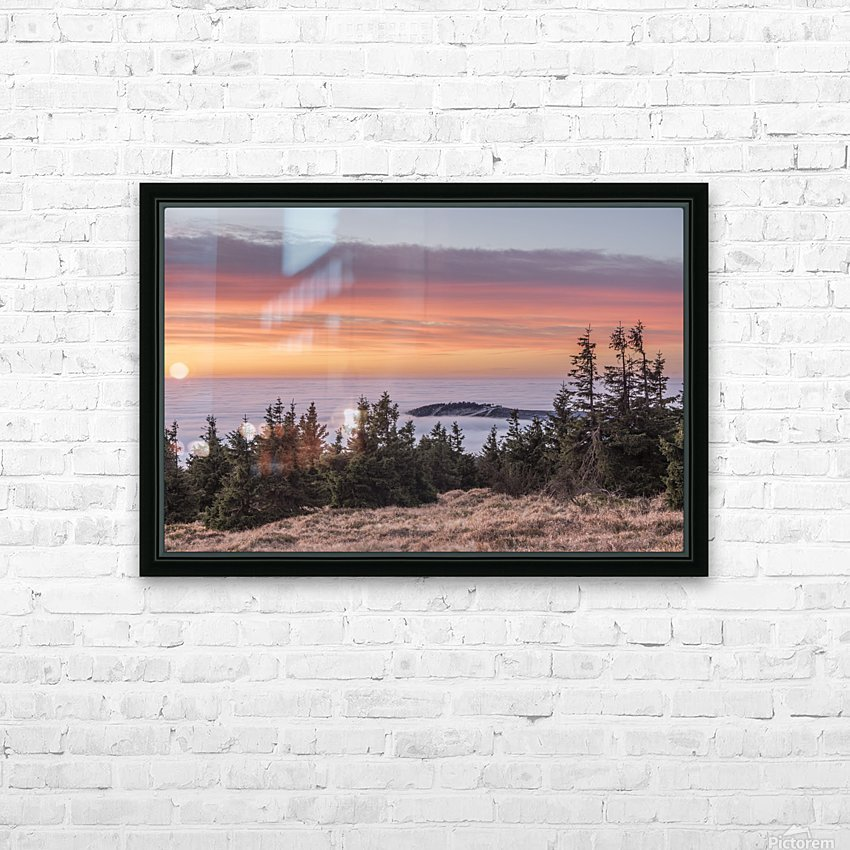 Temperature Inversion in the Nationalpark Harz HD Sublimation Metal print with Decorating Float Frame (BOX)