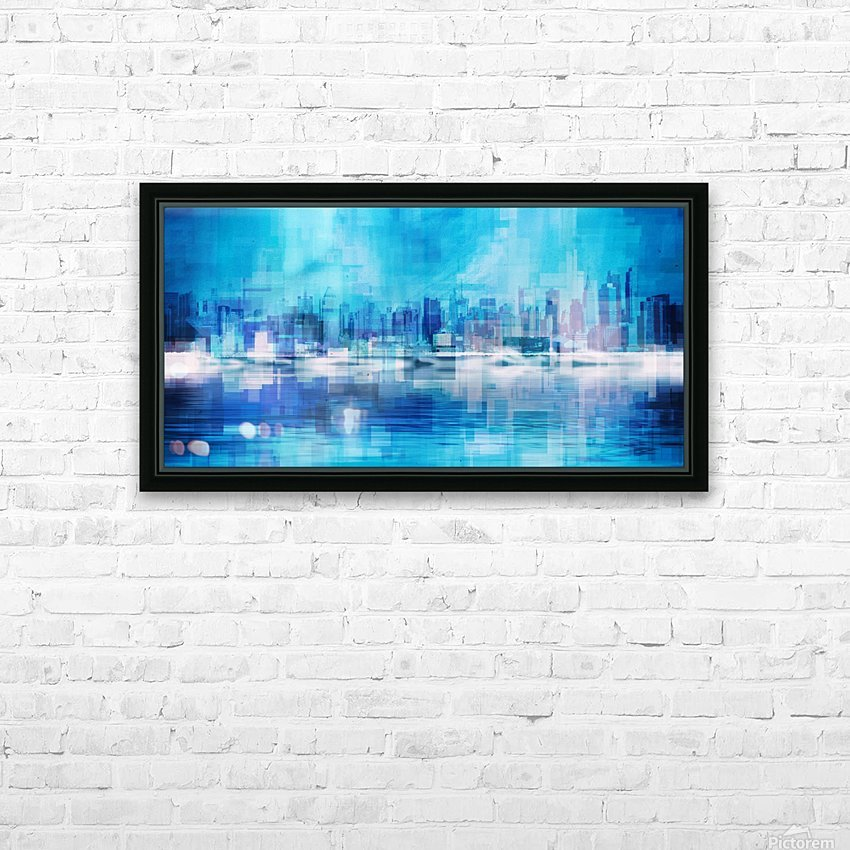 New York skyline HD Sublimation Metal print with Decorating Float Frame (BOX)