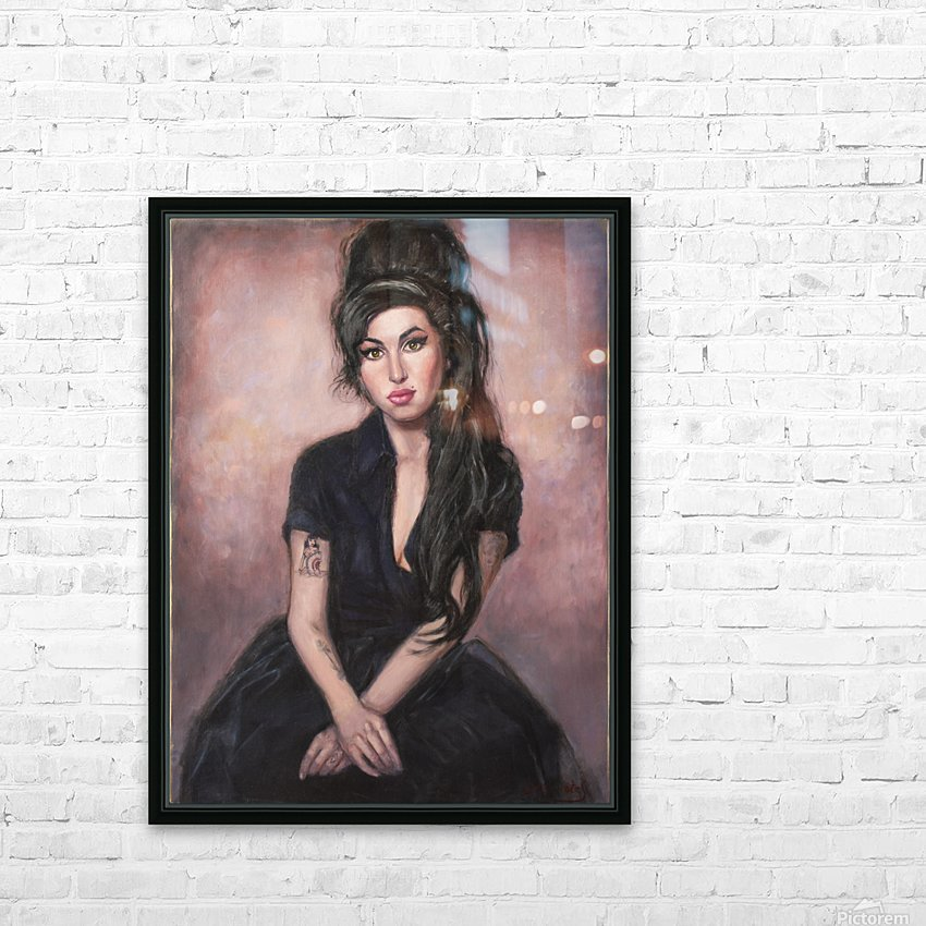 Amy in black  HD Sublimation Metal print with Decorating Float Frame (BOX)