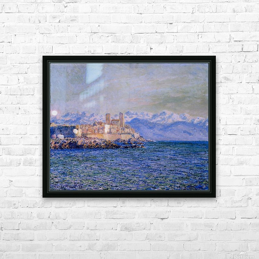 The Old Fort at Antibes HD Sublimation Metal print with Decorating Float Frame (BOX)