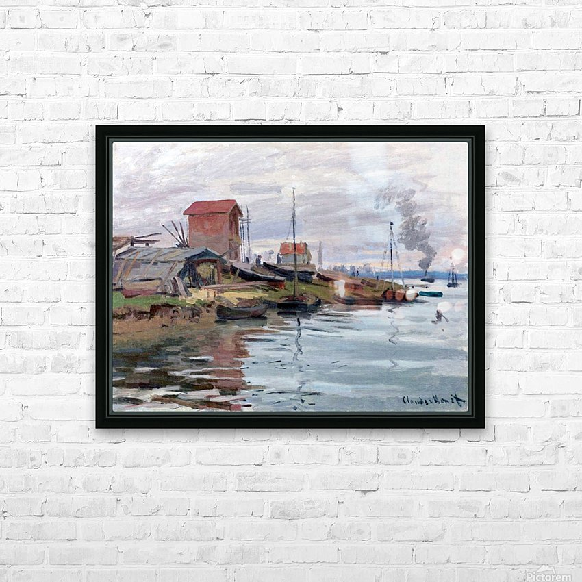 The Seine at Petit-Gennevilliers HD Sublimation Metal print with Decorating Float Frame (BOX)
