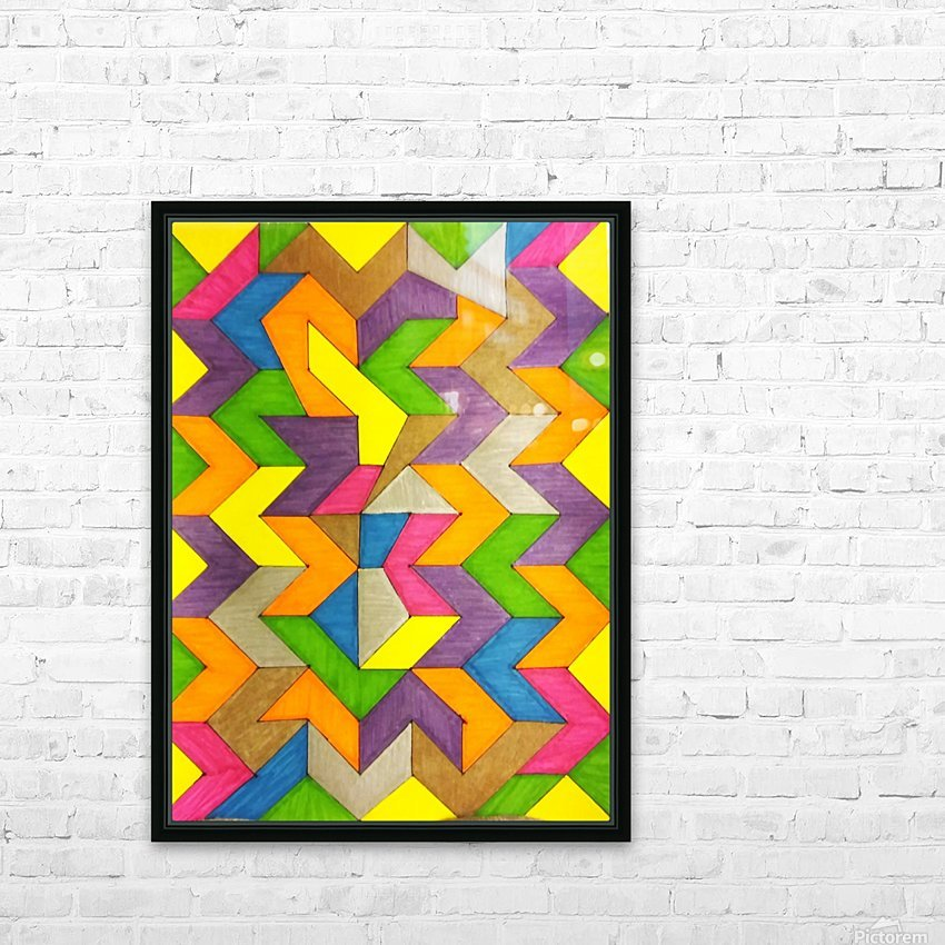 Patterned Lines of Color HD Sublimation Metal print with Decorating Float Frame (BOX)