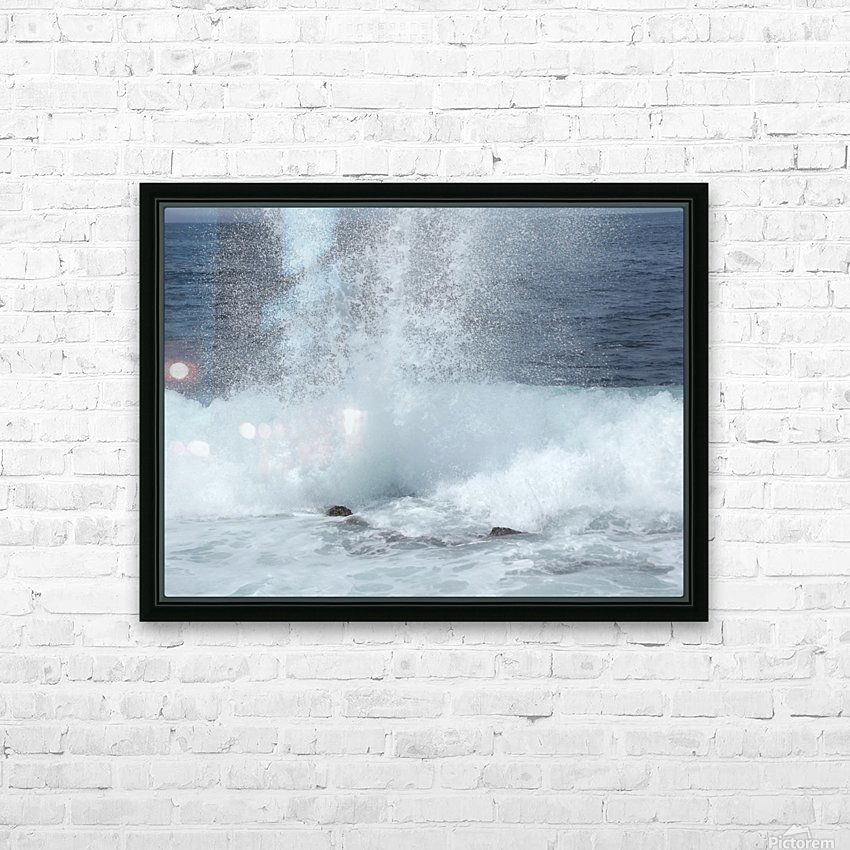 Sea Spray HD Sublimation Metal print with Decorating Float Frame (BOX)