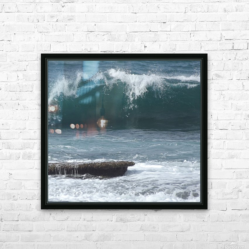 Breaking Wave HD Sublimation Metal print with Decorating Float Frame (BOX)