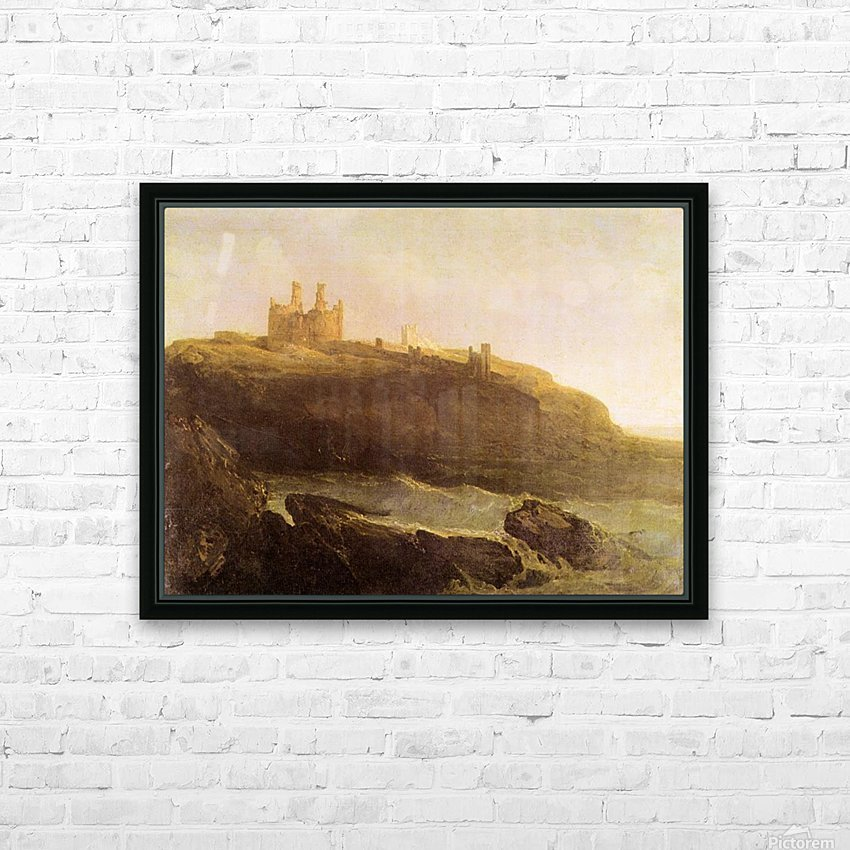 Dunstanborough Castle by Joseph Mallord Turner HD Sublimation Metal print with Decorating Float Frame (BOX)